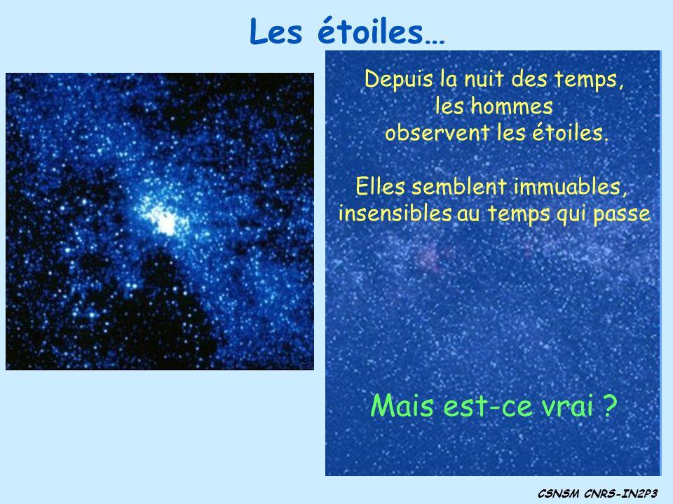 Les étoiles… Mais est-ce vrai Depuis la nuit des temps, les hommes