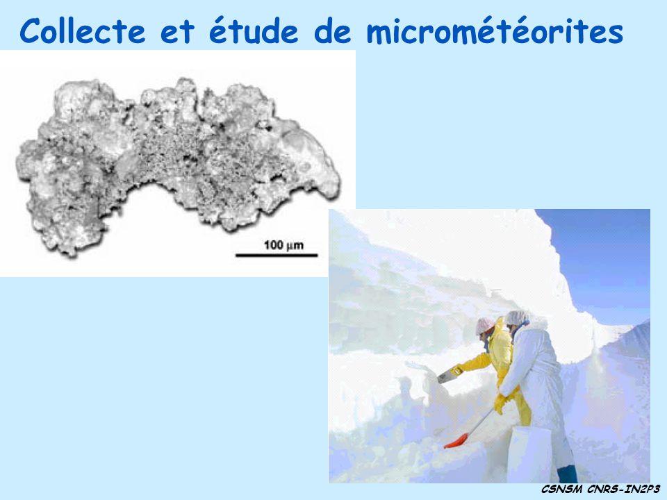 Collecte et étude de micrométéorites