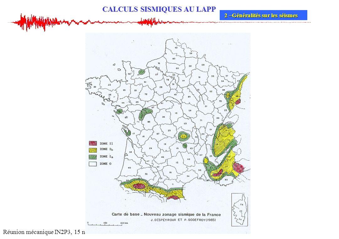 Réunion mécanique IN2P3, 15 novembre 2004