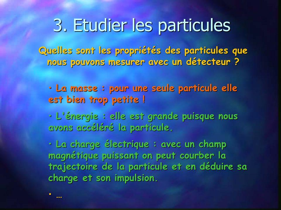 3. Etudier les particules