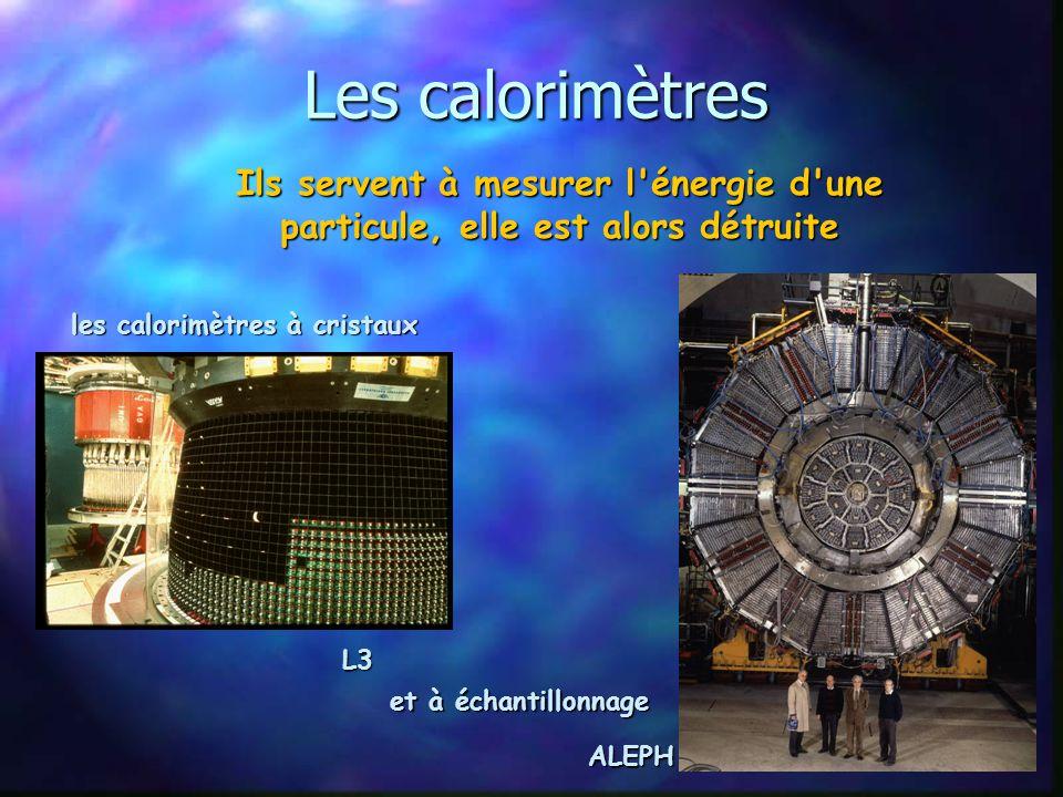 Les calorimètres Ils servent à mesurer l énergie d une particule, elle est alors détruite. les calorimètres à cristaux.