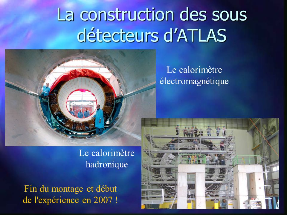 La construction des sous détecteurs d'ATLAS