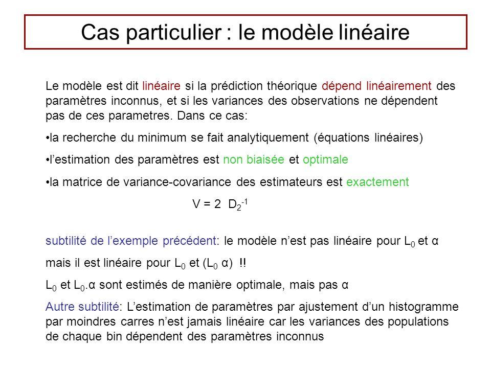 Cas particulier : le modèle linéaire