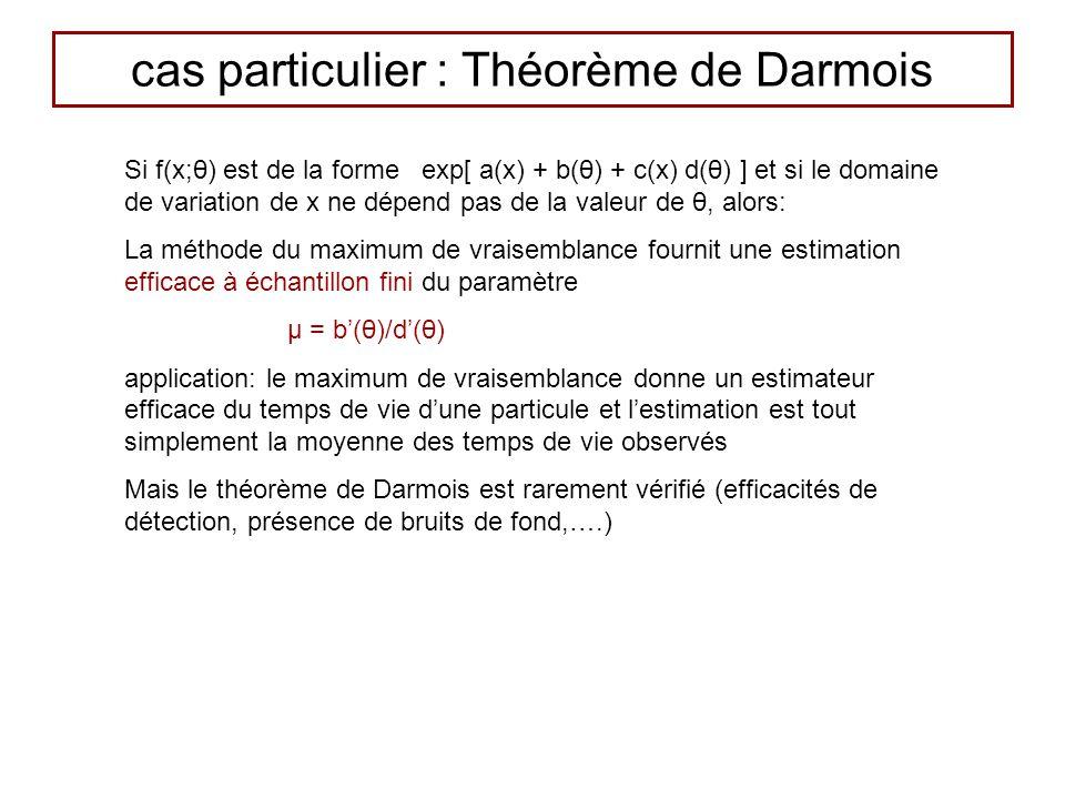 cas particulier : Théorème de Darmois