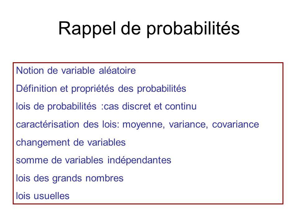 Rappel de probabilités