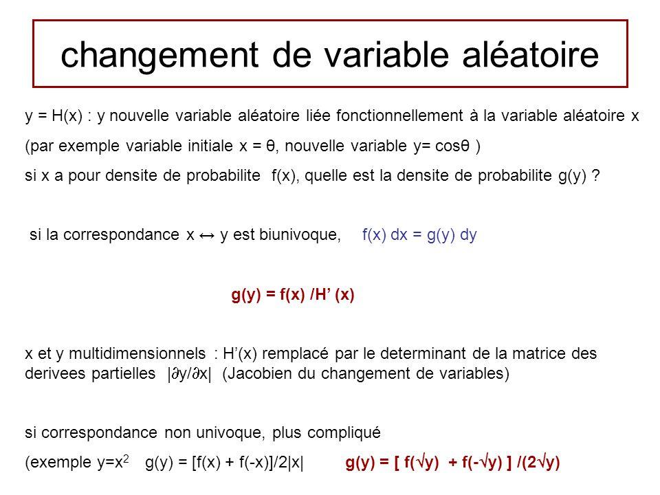 changement de variable aléatoire