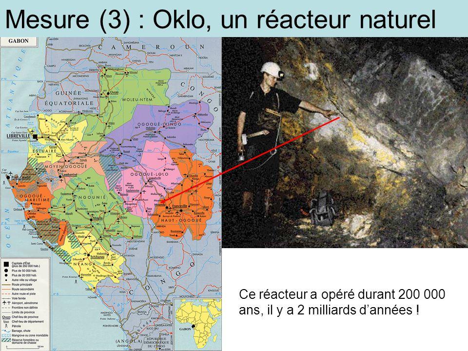 Mesure (3) : Oklo, un réacteur naturel