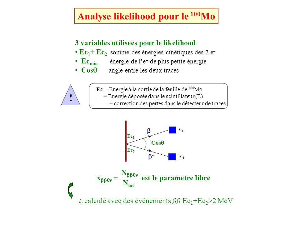Analyse likelihood pour le 100Mo