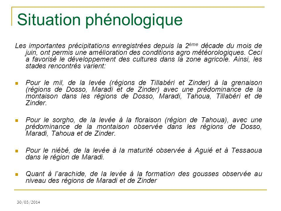 Situation phénologique