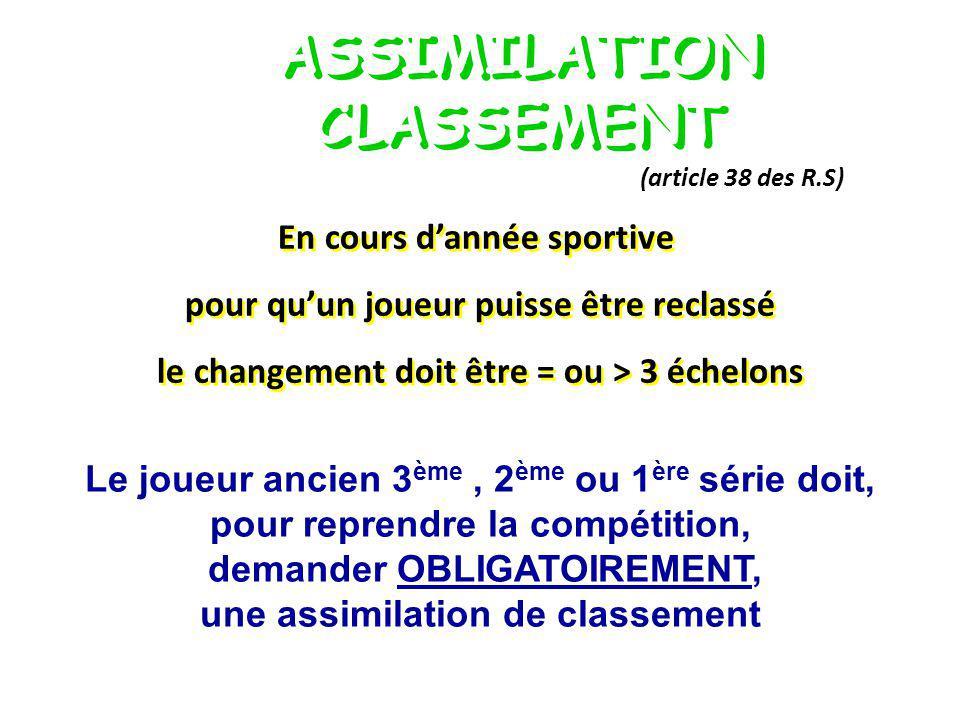 ASSIMILATION CLASSEMENT