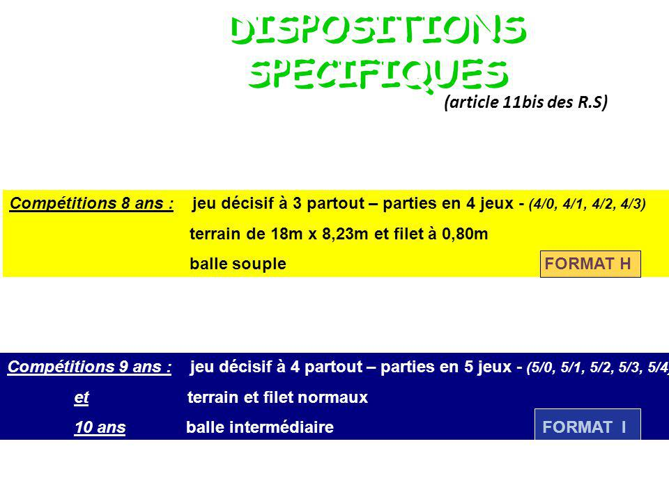 DISPOSITIONS SPECIFIQUES
