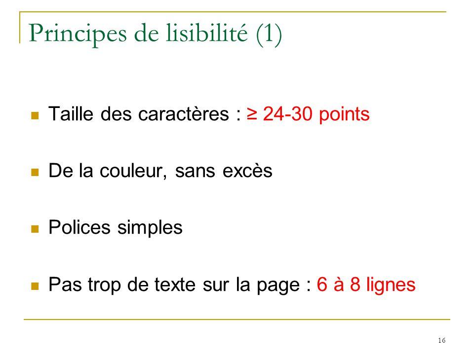 Principes de lisibilité (1)