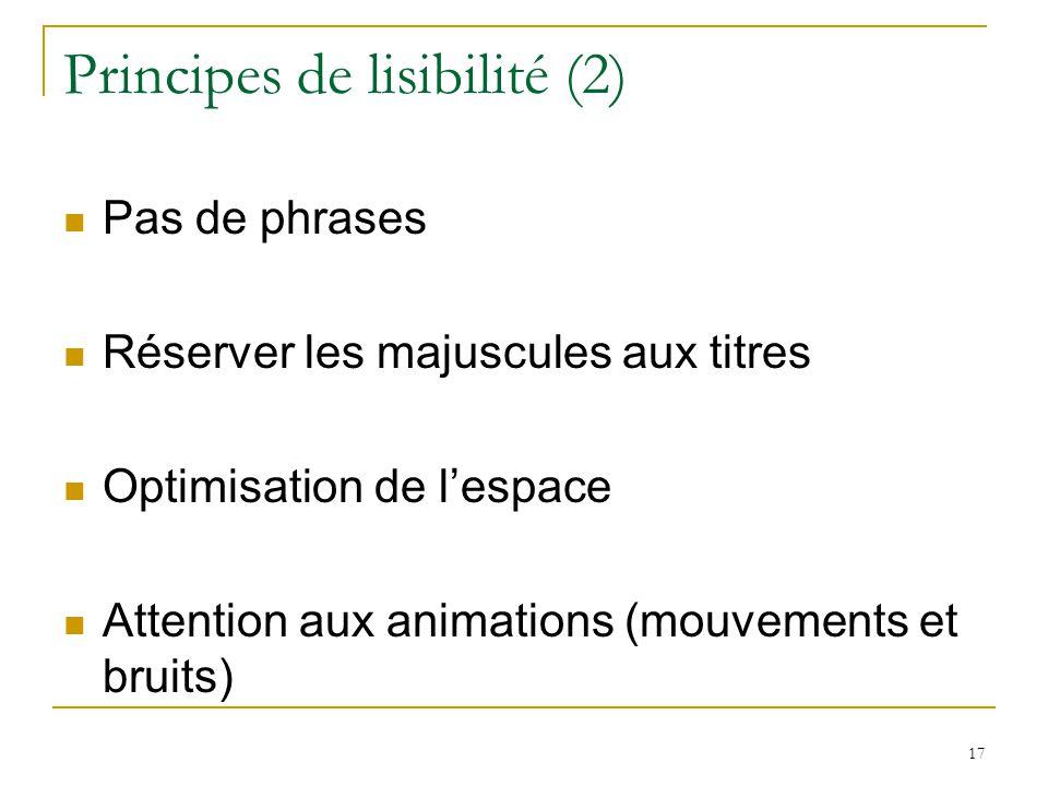 Principes de lisibilité (2)