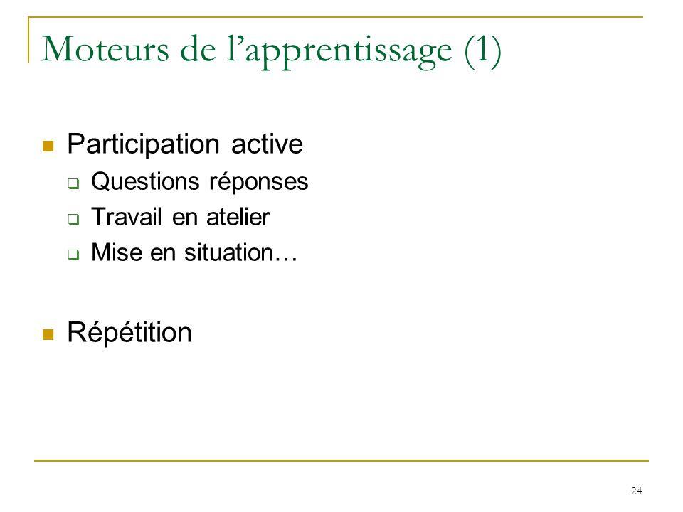 Moteurs de l'apprentissage (1)