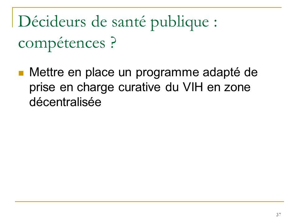 Décideurs de santé publique : compétences
