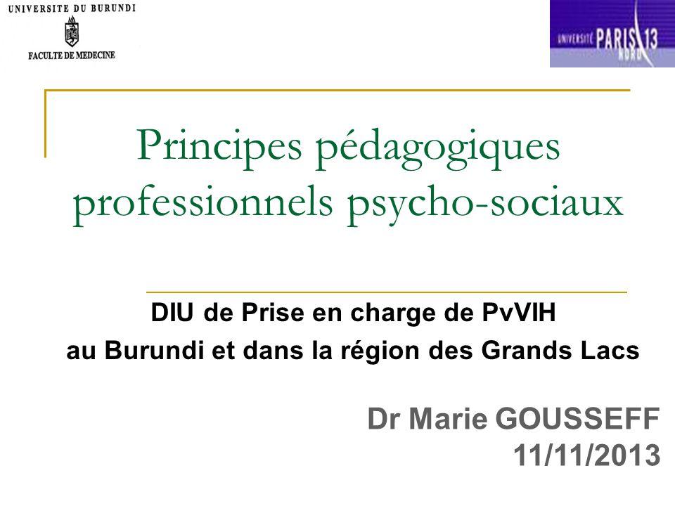 Principes pédagogiques professionnels psycho-sociaux