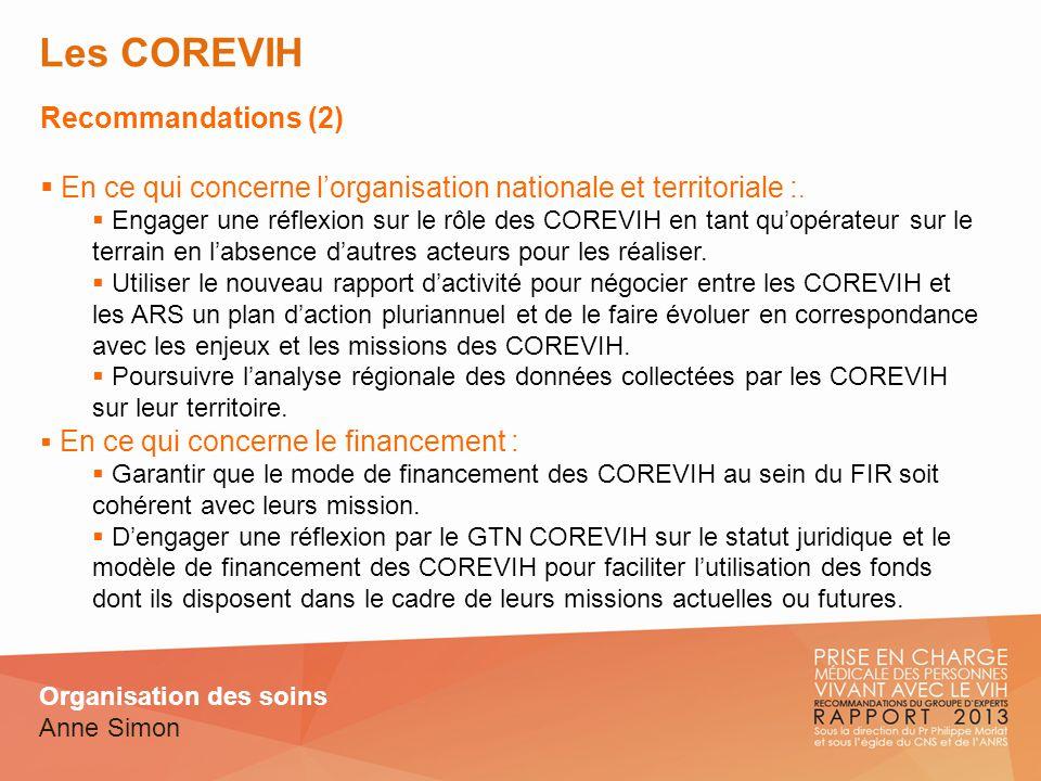Les COREVIH Recommandations (2)