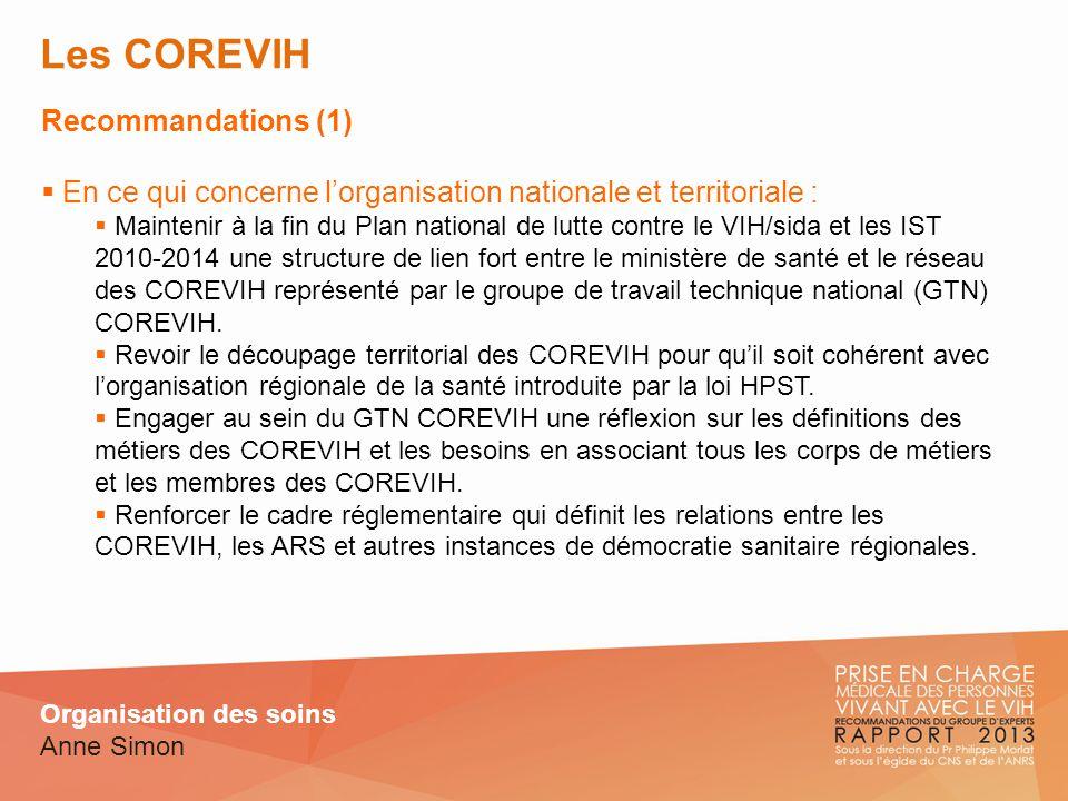 Les COREVIH Recommandations (1)