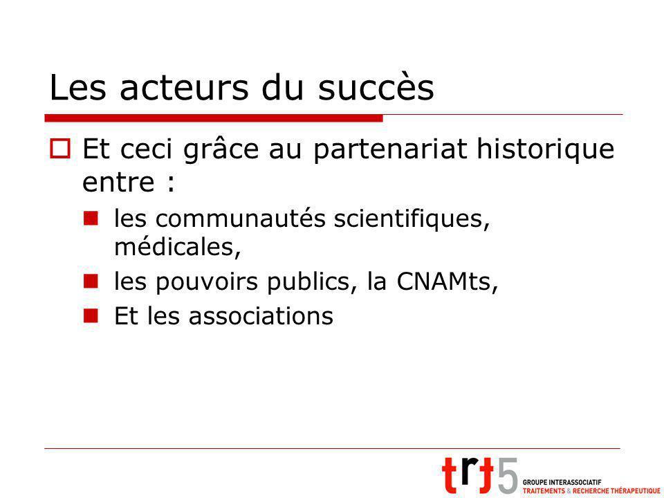 Les acteurs du succès Et ceci grâce au partenariat historique entre :