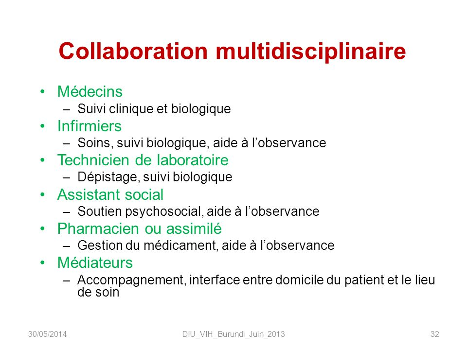 Collaboration multidisciplinaire