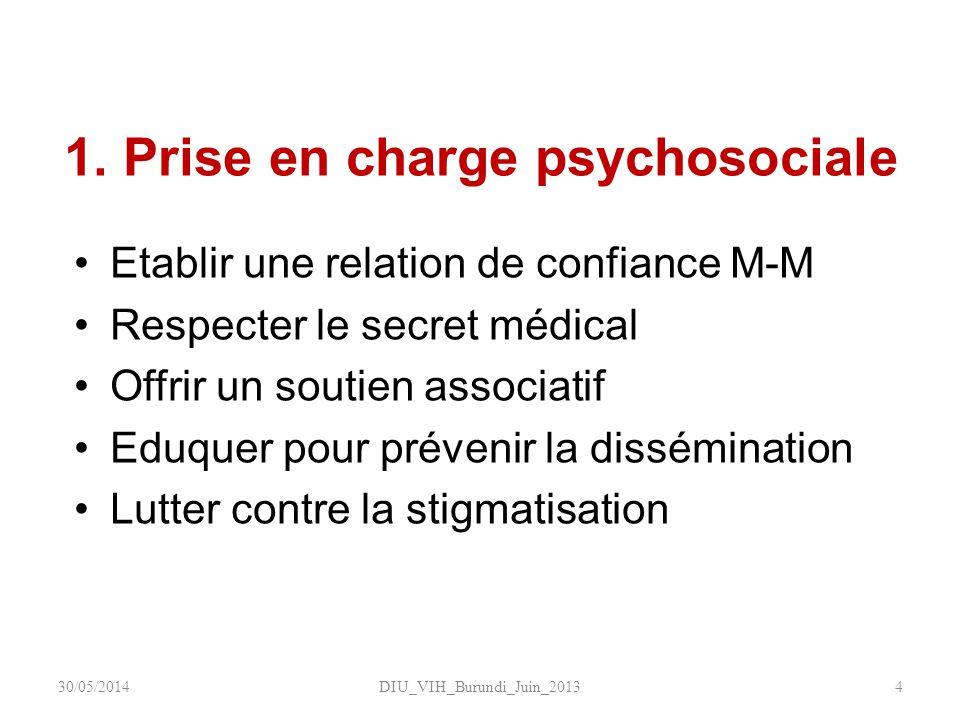 1. Prise en charge psychosociale