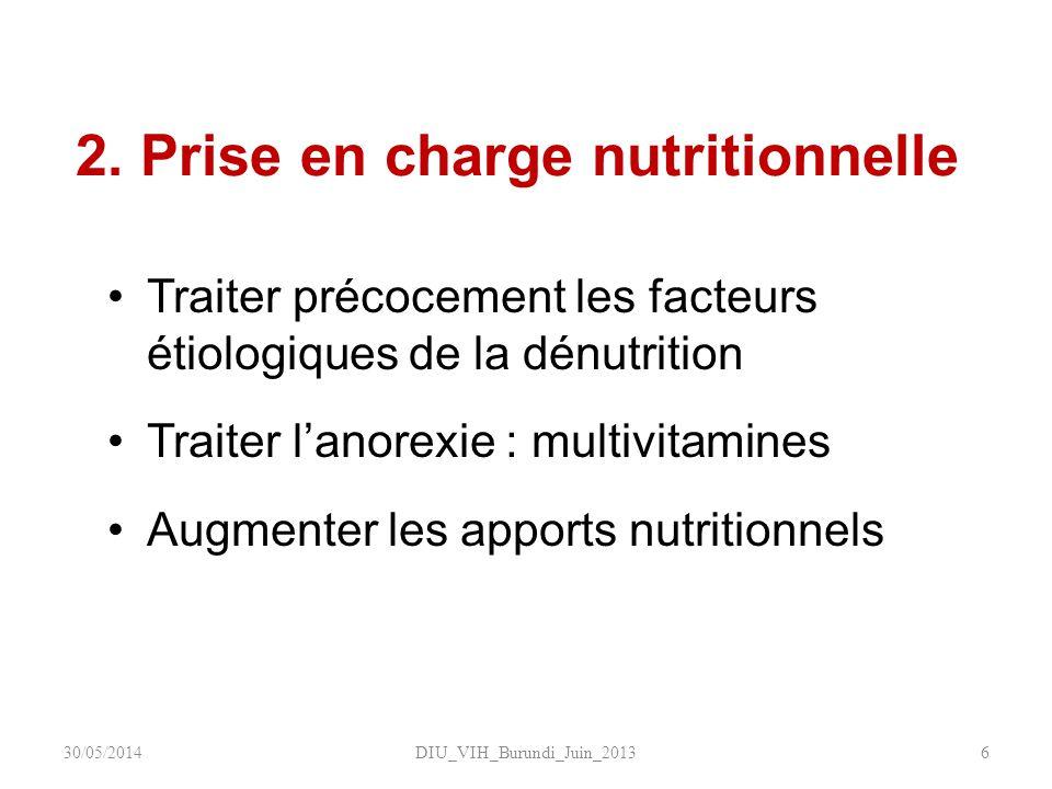 2. Prise en charge nutritionnelle