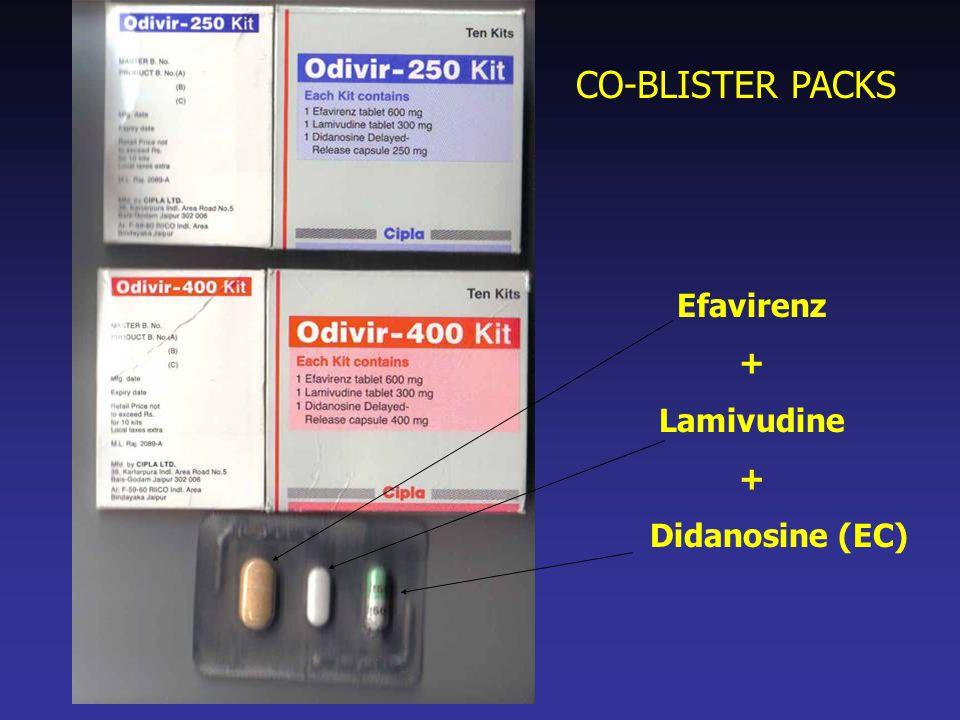 CO-BLISTER PACKS Efavirenz + Lamivudine Didanosine (EC)