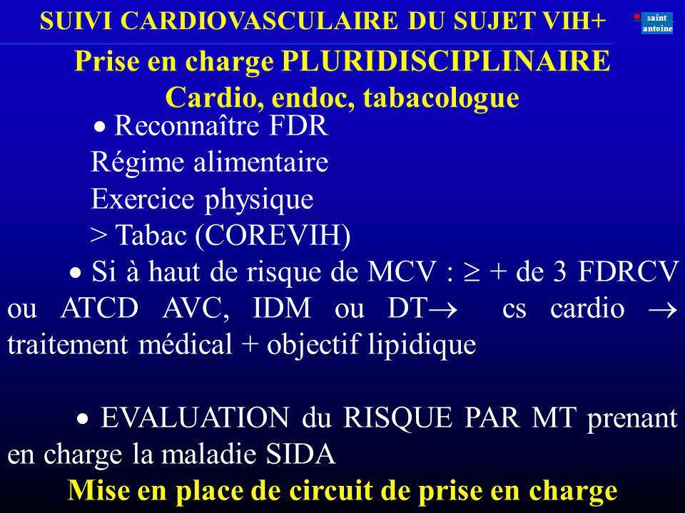 Prise en charge PLURIDISCIPLINAIRE Cardio, endoc, tabacologue