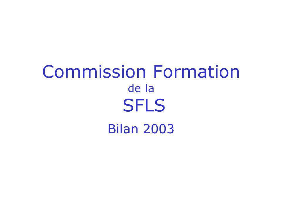 Commission Formation de la SFLS