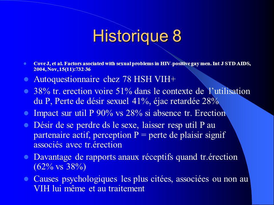 Historique 8 Autoquestionnaire chez 78 HSH VIH+