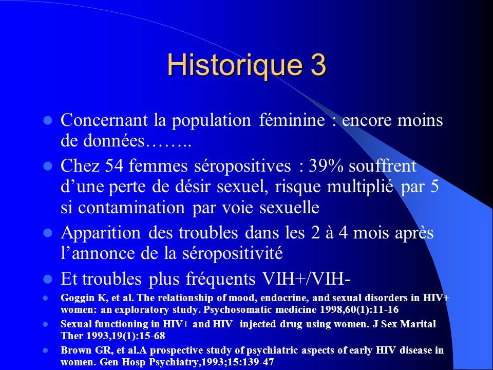 Historique 3 Concernant la population féminine : encore moins de données……..