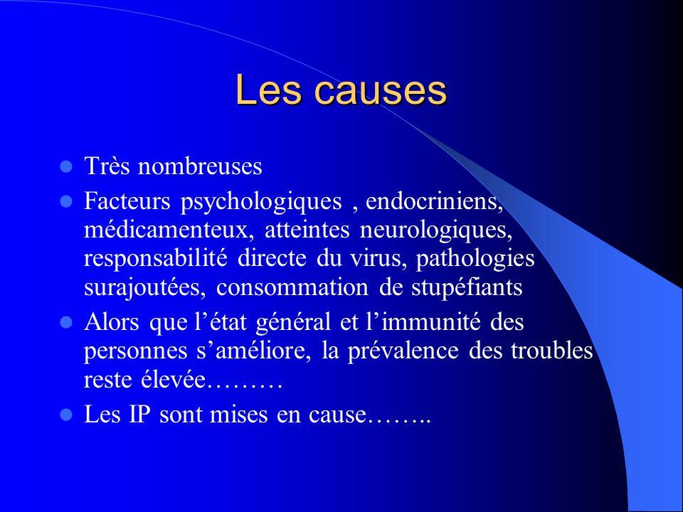 Les causes Très nombreuses