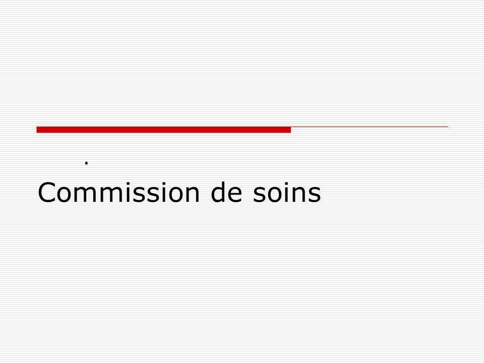 Commission de soins .
