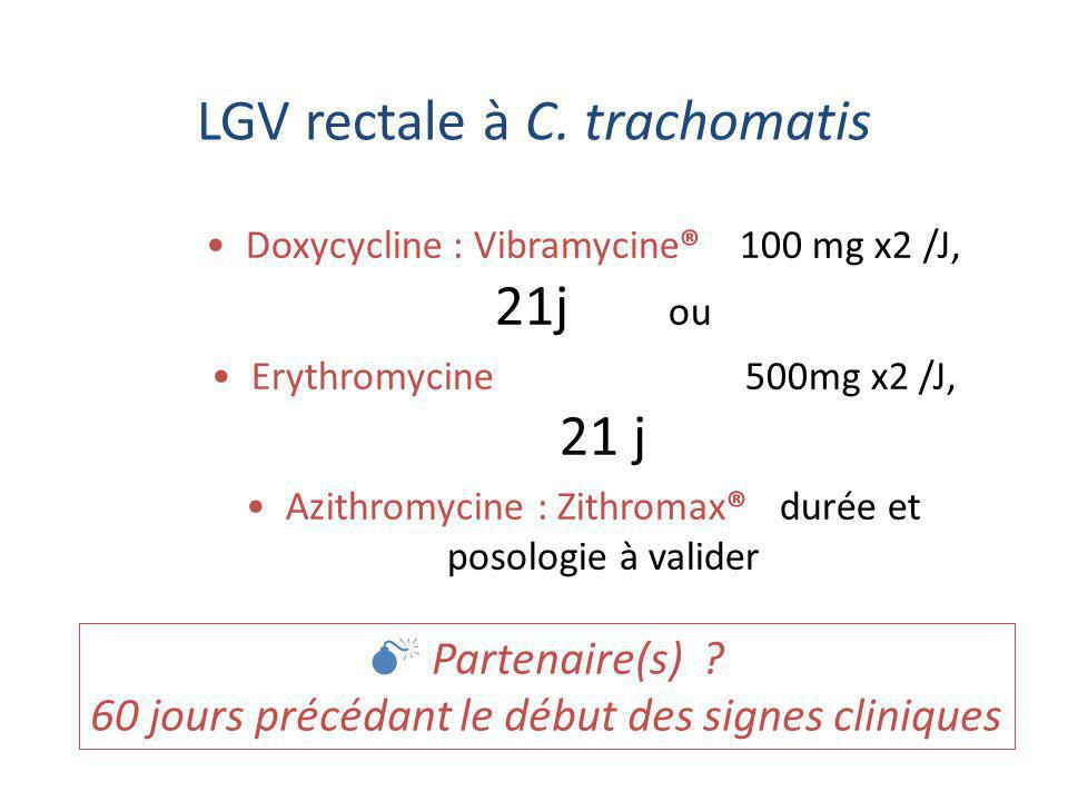 LGV rectale à C. trachomatis