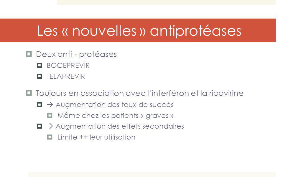 Les « nouvelles » antiprotéases