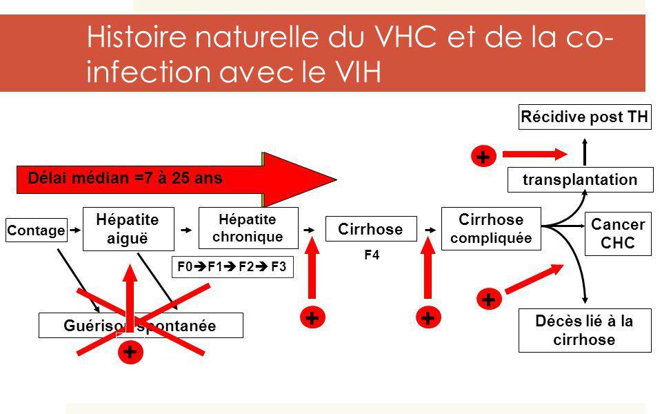 Histoire naturelle du VHC et de la co-infection avec le VIH