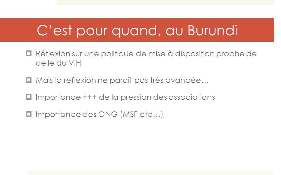 C'est pour quand, au Burundi