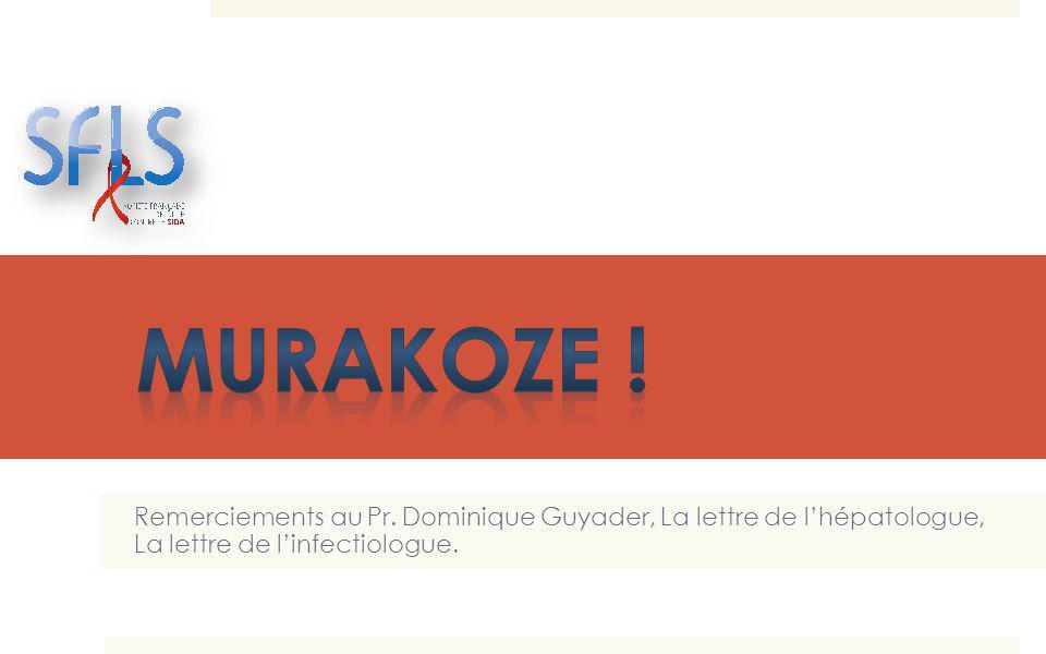 Murakoze . Remerciements au Pr.