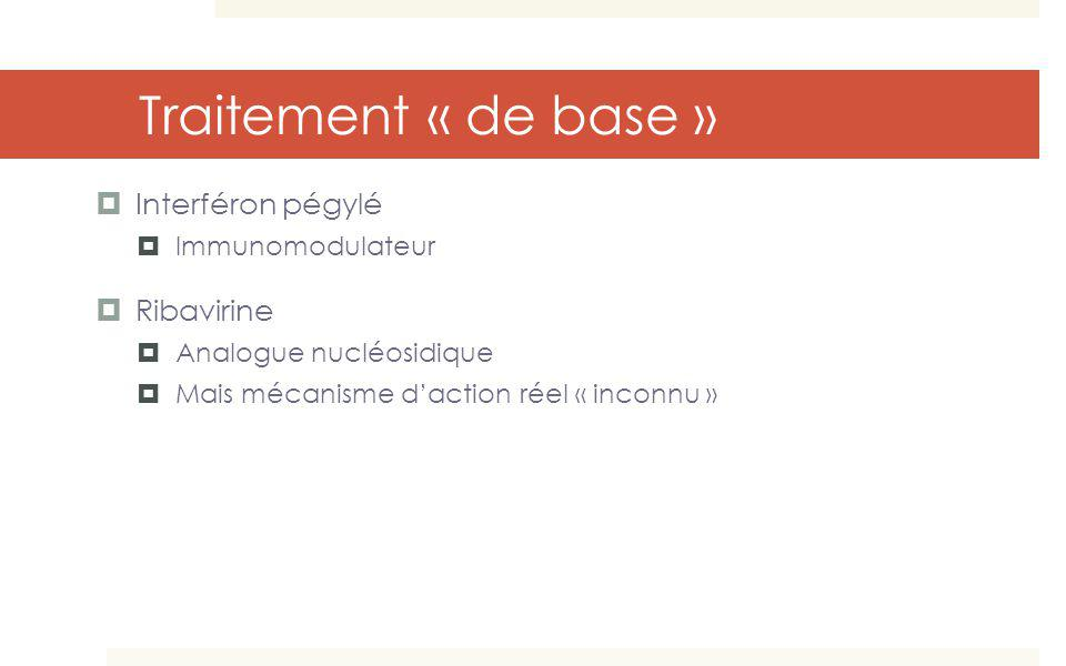 Traitement « de base » Interféron pégylé Ribavirine Immunomodulateur
