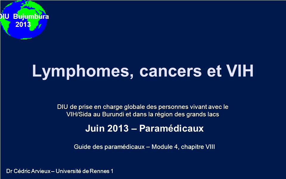 Lymphomes, cancers et VIH