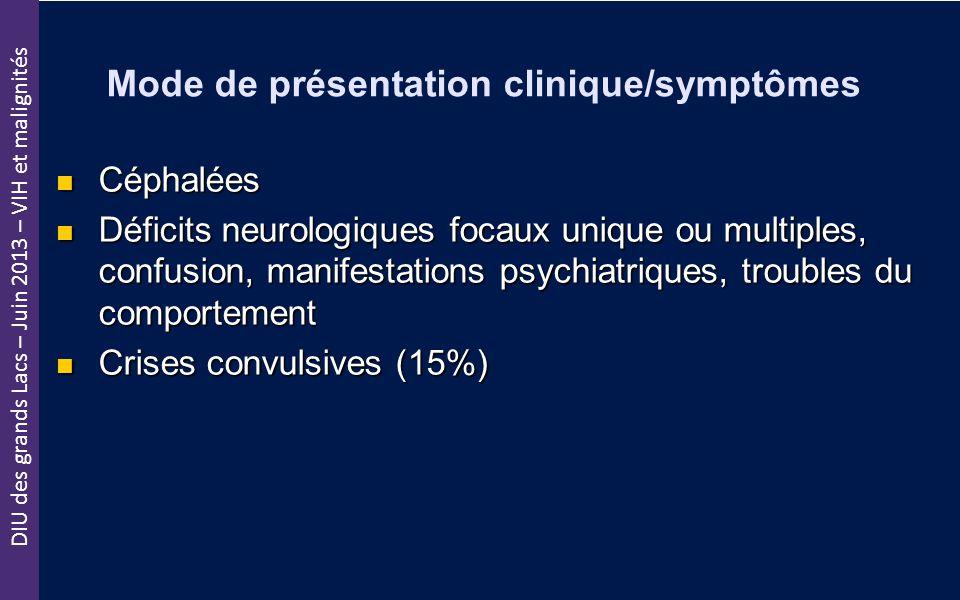 Mode de présentation clinique/symptômes