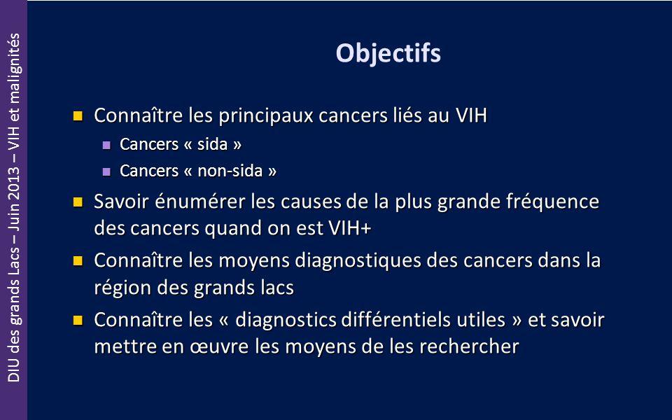 Objectifs Connaître les principaux cancers liés au VIH