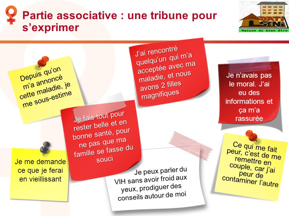 Partie associative : une tribune pour s'exprimer