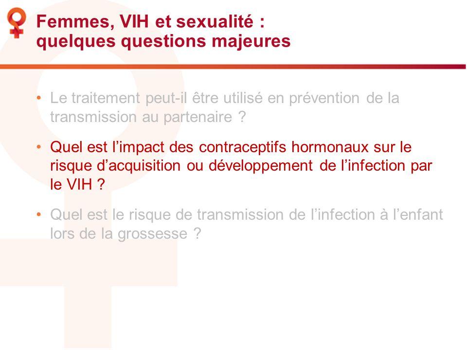 Femmes, VIH et sexualité : quelques questions majeures