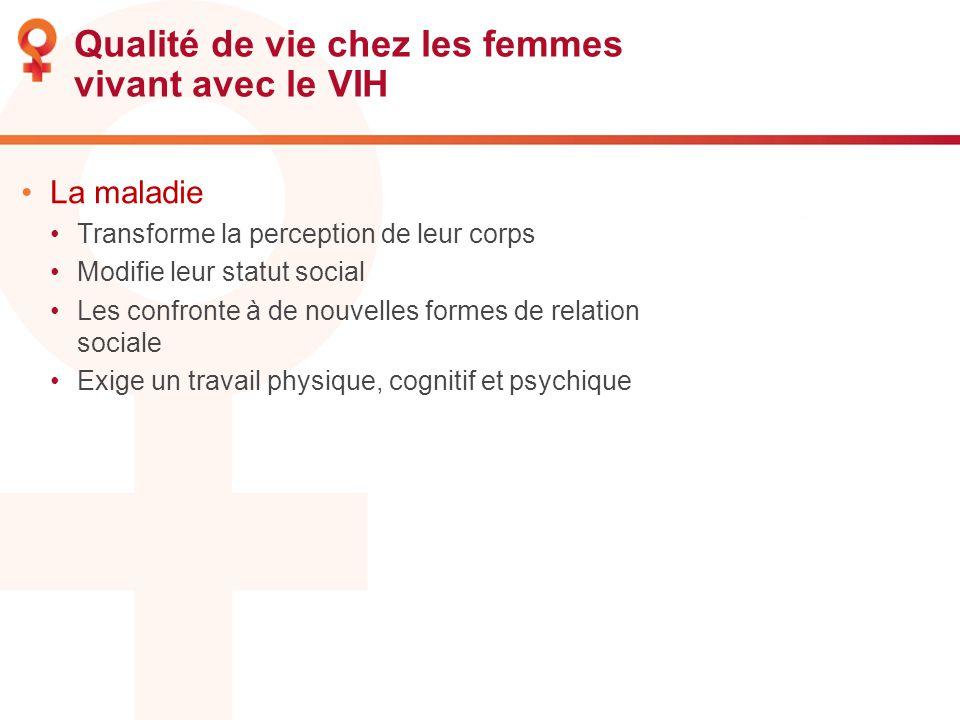 Qualité de vie chez les femmes vivant avec le VIH