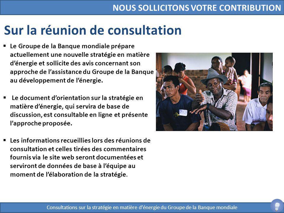 Sur la réunion de consultation
