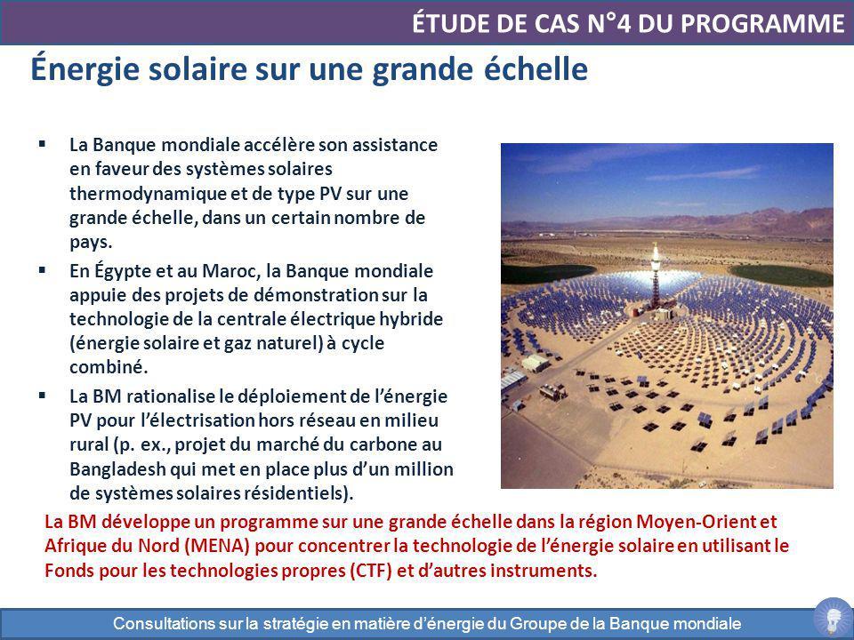 Énergie solaire sur une grande échelle