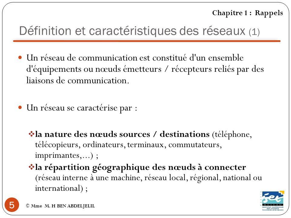 Définition et caractéristiques des réseaux (1)