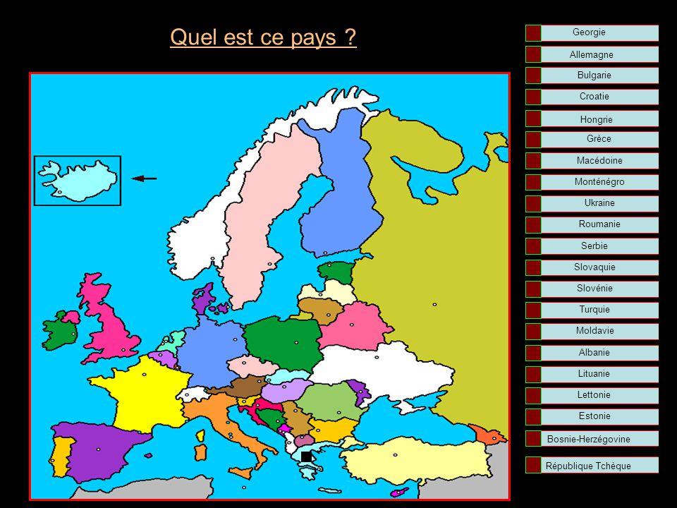 Quel est ce pays Georgie Allemagne Bulgarie Croatie Hongrie Grèce