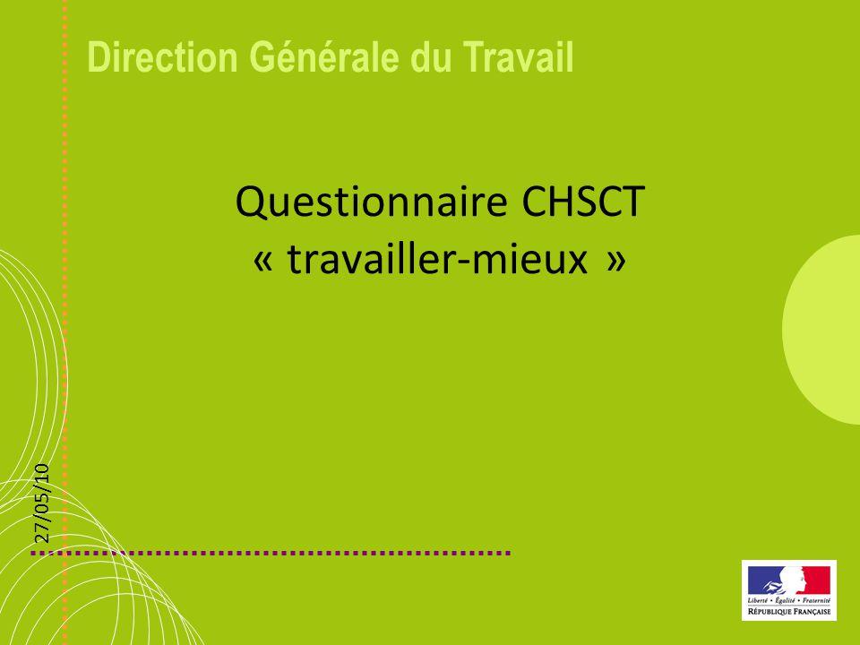Questionnaire CHSCT « travailler-mieux »